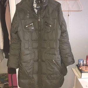 olive bogner ski jacket